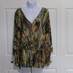Urban Mango Kimono Style Print Top